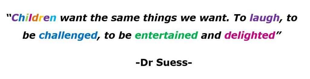 the famous quote of Dr. Suess